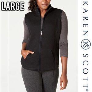 🖤 Karen Scott quilted comfy vest